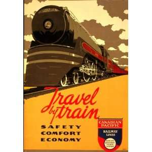 1940 Vintage Travel Railroad poster Canadian Pacific: Home