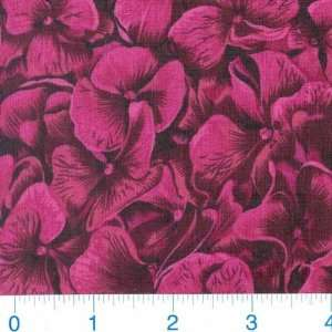 Full Bloom Flowers Magenta Fabric By The Yard Arts, Crafts & Sewing