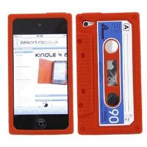iTALKonline SoftSkin CASSETTE TAPE RETRO RED BLUE WHITE