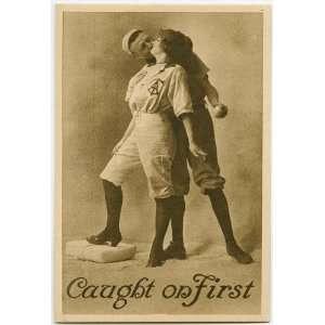 woman,man wearing baseball uniforms,couples,1890