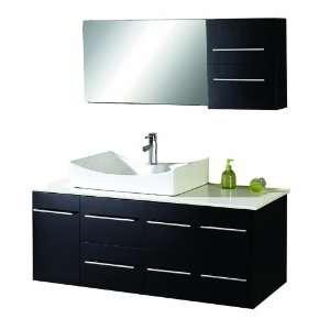 Virtu USA MS 430 Ceanna 54 Inch Wall Mount Single Sink Bathroom Vanity