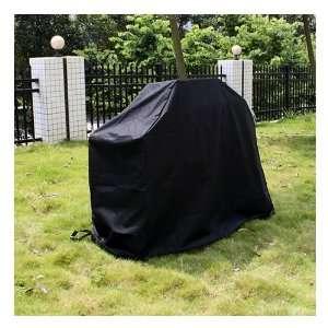 Veranda Cart Barbecue BBQ Grill Cover, Large, Black Patio