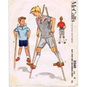 Pattern Boys Sport Shirt Bermuda Shorts Size 8 Arts, Crafts & Sewing
