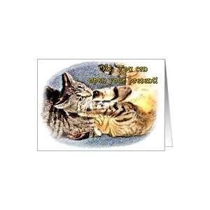 Kitty Cats Playing    Happy Birthday Card Health