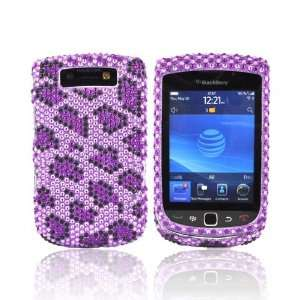 For Blackberry Torch Bling Hard Case PURPLE LEOPARD Electronics