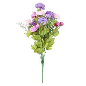 Amico Wedding Home Decor Purple Pink 11 Artificial Flower Stem Bouquet