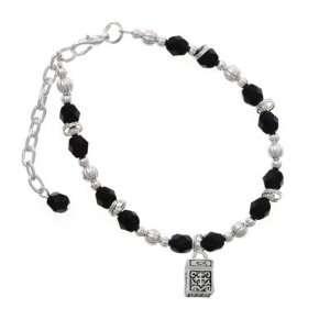 Prayer Box Black Czech Glass Beaded Charm Bracelet [Jewelry] Jewelry