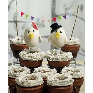 Birds Wedding Cake Topper   Sweet Tweets Bride & Groom