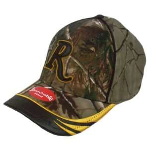 Remington Hat Cap Realtree Camo Camouflage Brown Leather