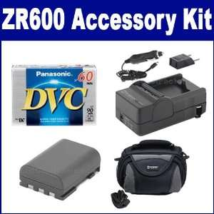 Canon ZR600 Camcorder Accessory Kit includes SDC 26 Case
