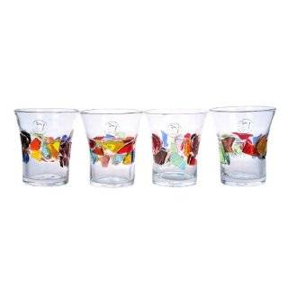 Carnival Mulit Colored Recycled Glass Drinking Glasses (4