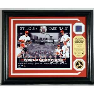 St. Louis Cardinals WS Ring Ceremony Photomint with 24KT Gold Coin and