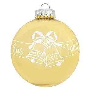 Gold Wedding Bells Design Ornament