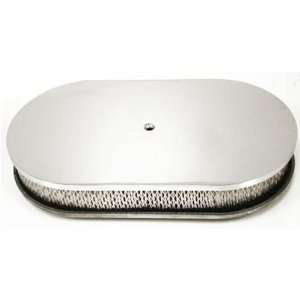 /Ford/Mopar 15 Oval Chrome Aluminum Air Cleaner   Smooth Automotive
