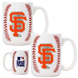 Francisco Giants Game Ball Ceramic Coffee Mug Set