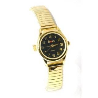 BOXX Ladies Gold Tone Metal Expandable Watch Watches