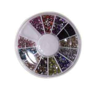 2400 Piece 12 Color Nail Art Nailart Manicure Wheels Beauty