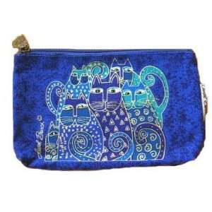 Cats Canvas Cosmetic Bag Blue By The Each Arts, Crafts & Sewing
