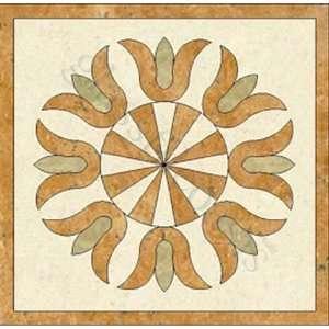 Crema Marfil Emperador Light Inca Gold Medallion Cream/Beige Medallion