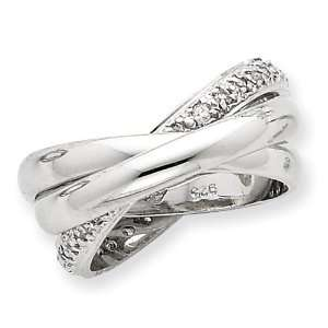 Sterling Silver CZ Rolling Ring   Size 6 West Coast