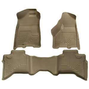 and Second Seat Floor Liner Set for Dodge RAM 1500 (Tan) Automotive