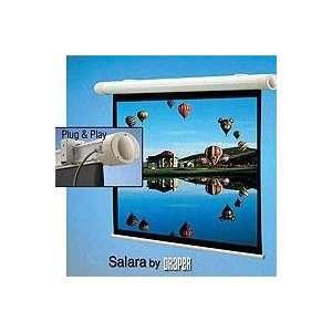 Draper Salara Plug & Play Electric Wall Mount Projection Screen