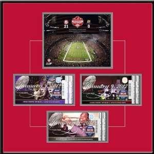Game 3X Replica Ticket Frame   Alabama Crimson Tide