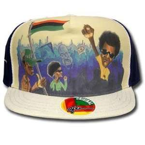 PEEWEE AFRO FITTED FLAT BILL CAP HAT 7 1/4 NEW