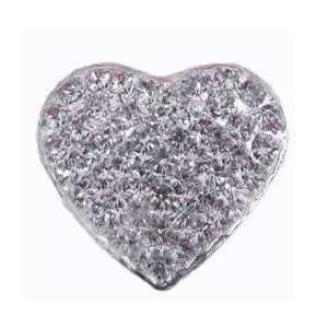 Swarovski Heart Clear Clip/Embellishment Flip Flop