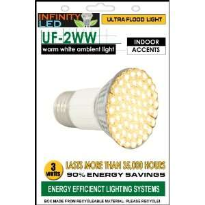 Infinity Ultra Flood Light Bulb   Warm White, 3W  Kitchen