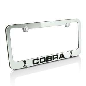 Ford Mustang Cobra 2 Logos Chrome Metal License Frame