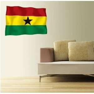 GHANA Flag Wall Decal Room Decor Sticker 25 x 18
