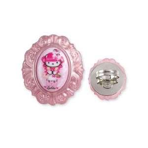 Tarina Tarantino Hello Kitty Pink Head Portrait Baroque Ring   Fuchsia