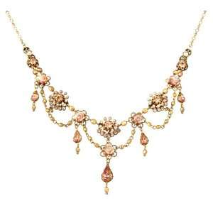Michal Negrin Extraordinary Gold Plated Necklace Beautifully Decorated