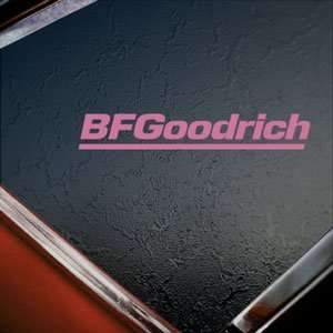 BF Goodrich Tires Pink Decal Car Truck Window Pink Sticker