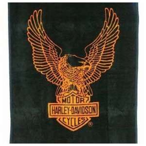 Biederlack Harley Davidson Bar & Shield Blanket Throw 60 x 50