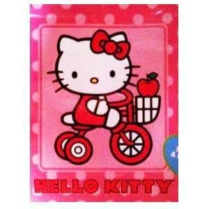 Hello Kitty Kitty Bike Royal Plush Raschel Throw Blanket