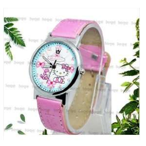 Hello Kitty Girls Lady Quartz Watch PINK