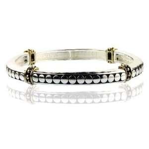 Designer Inspired Two tone Stretch Bracelet Fashion Jewelry Jewelry