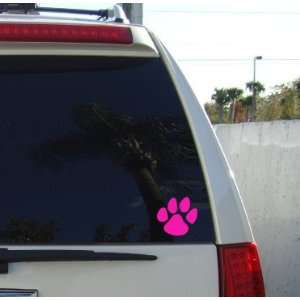 PANTHER PAW PRINT   Vinyl Decal Sticker 5 HOT PINK Automotive