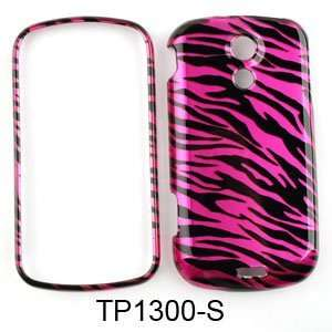 Samsung Epic 4G Transparent Design, Hot Pink Zebra Print