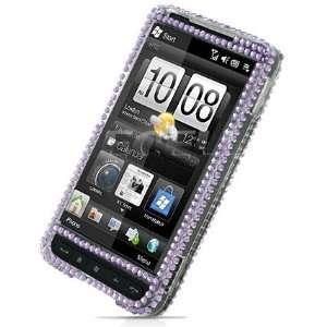 PURPLE PANDA CRYSTAL DIAMOND BLING CASE FOR HTC HD2 Electronics