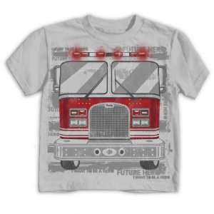 Hybrid Kids R Heroes Fire Truck Grey Toddler Tee: Sports