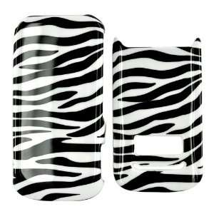 For Motorola i410 Hard Plastic Case White Black Zebra