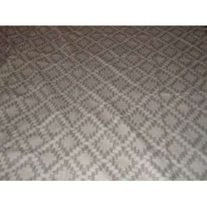 Rug Diamonds Grey Chain Stitched Wool Rug(4X6FT) Furniture & Decor