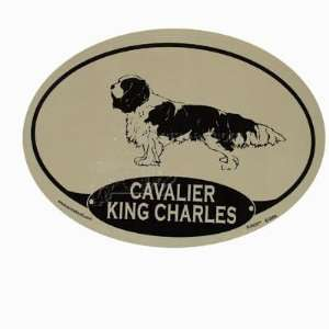 Euro Style Oval Dog Decal Cavalier King Charles Spaniel