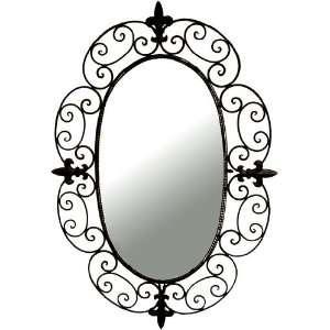 Oval Wrought Iron Wall Mirror by Ashton Sutton