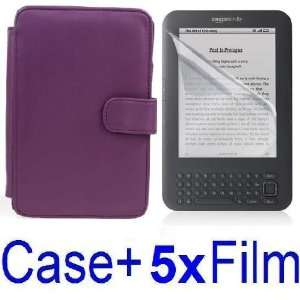 NEEWER® PURPLE Protective PU Leather Case Cover For Kindle 3