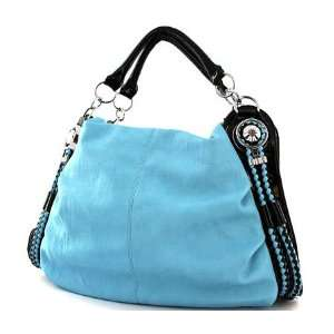 BLUE LEATHER  PU HANDBAG Everything Else