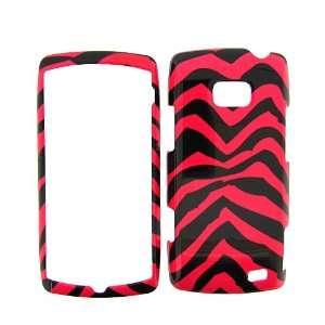 LG Ally VS740 (Verizon) PINK ZEBRA COVER CASE Hard Case/Cover